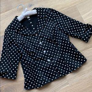Pendleton black and white polka dot jacket